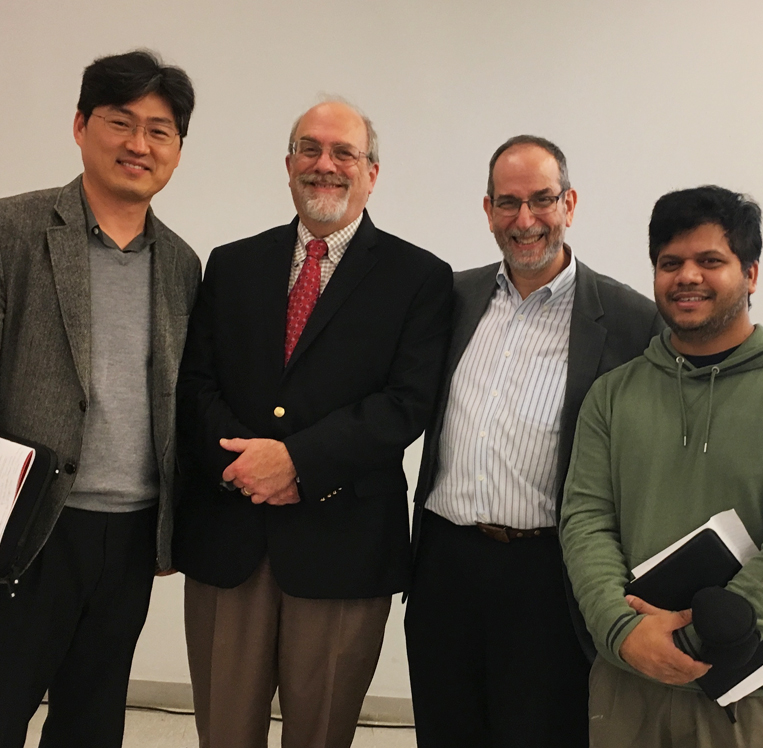 Dr. Lee (far left) with Dr. Steven Schachter (next to Lee) and Dr. Michael Ehrlich at NJIT Dr. Lee (far left) with Dr. Steven Schachter (next to Lee) and Dr. Michael Ehrlich at NJIT